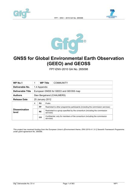 GNSS for Global Environmental Earth Observation (GEEO     - Gfg2