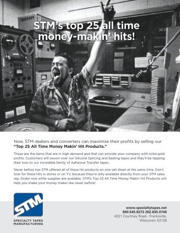 STM's top 25 all time money-makin' hits! - Specialty Tapes