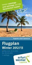 Kanarischen Inseln! Flugplan Winter 2012 / 13 - Flughafen Erfurt