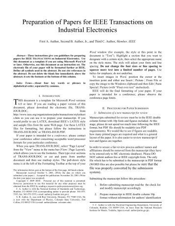 ieee conference paper template electronic engineering. Black Bedroom Furniture Sets. Home Design Ideas