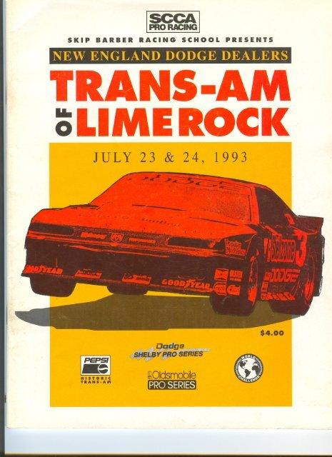Lime Rock Park Race Program 1993