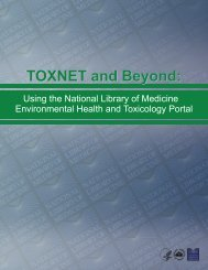 TOXNET and Beyond - Specialized Information Services - National ...