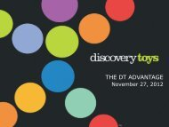 THE DT ADVANTAGE - Discovery Toys