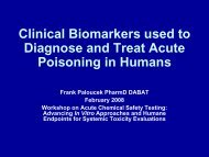 Clinical Biomarkers used to Diagnose and Treat Acute Poisoning in ...
