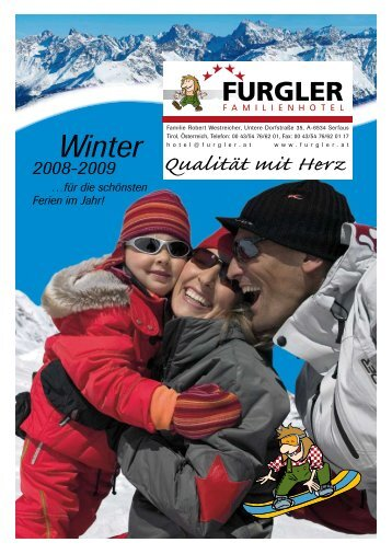 Winter 2008-2009 …für die schönsten Ferien im Jahr! - Hotel Furgler