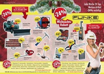 Weihnachts- Rabatt - Funke Gmbh