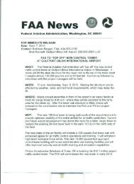 FAA News - Gulfport-Biloxi International Airport