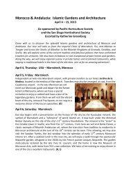 Morocco & Andalucia: Islamic Gardens and ... - Sterling Tours