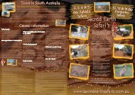 Tours In South Australia - Sacred Earth Safaris