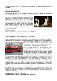 Rahmenprogramm zum 30. Deutschen Krebskongress vom 22. bis ...