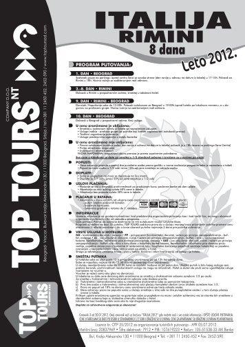 CENOVNIK br. 3 - Top Tours