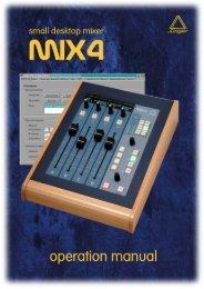 SMALL DESK TOP MIXER MIX4 Operation Manual - Aspen Media.