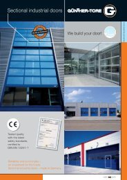 Sectional industrial doors - Günther-Tore GmbH