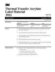 Thermal Transfer Acrylate Label Material 3921 - 3M