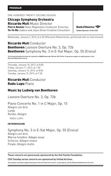 Eroica - Chicago Symphony Orchestra