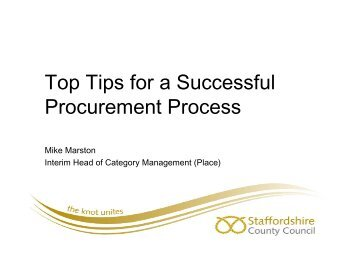 2 Top Tips For A Successful Procurement Process - Mike Marston