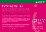 Parenting Top Tips - Leicestershire County Council