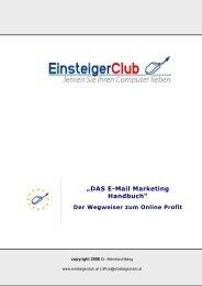 DAS E-Mail Marketing Handbuch - PLR eBooks verkaufen - Geld ...