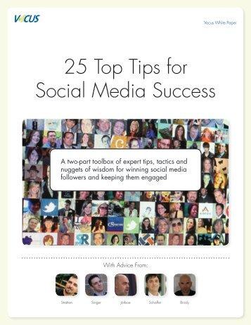 25 Top Tips for Social Media Success - iGo2