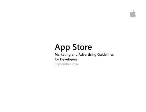 App Store Marketing And Advertising Guidelines Apple Developer