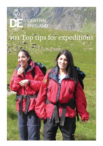 101 Top Tips for Expeditions - DofE in Suffolk