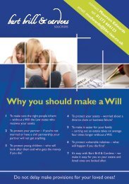 Will Top Tips leaflet - Burt Brill & Cardens