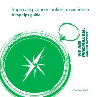 Improving cancer patient experience - Macmillan Cancer Support