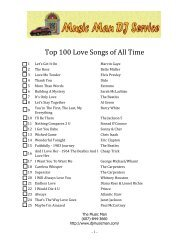 Top 100 Love Songs of All Time - Music Man DJ Mobile Service