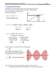 Physik PH04 (Schwingungen, Wellen, Optik) Seite 1.5 ...