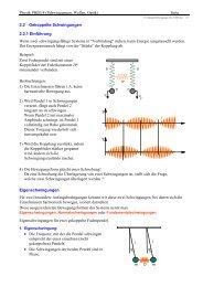 Physik PHB3/4 (Schwingungen, Wellen, Optik) Seite 2.2 Gekoppelte ...