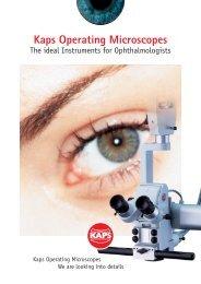 [03002] Prospekt SOM62 Ophthal A4 4s e 11.05 ... - Kaps Optik GmbH