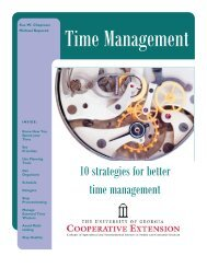 10 strategies for better time management (PDF) - University of Georgia