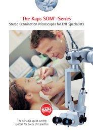 [02537] Prospekt HNO-Mikroskope SOM22-32 e ... - Kaps Optik GmbH