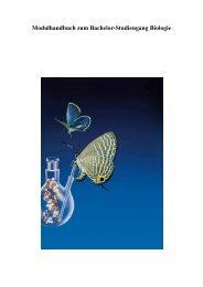Modulhandbuch zum Bachelor-Studiengang Biologie