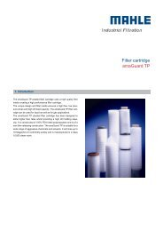 Filter cartridge amaGuard TP - MAHLE Industry - Filtration