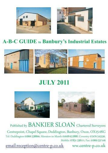 A-B-C GUIDE Banbury's Industrial Estates To - Bankier Sloan