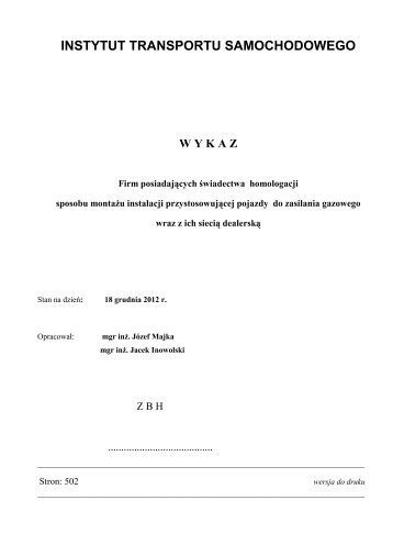 "pl*0020*00/g a. ""max"" - Instytut Transportu Samochodowego"