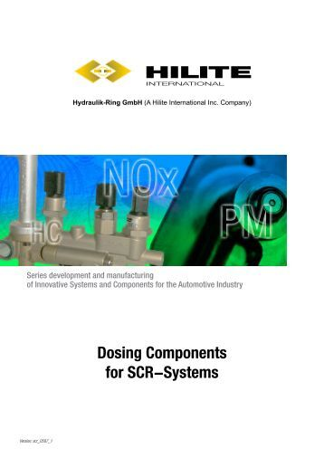 Dosing Components for SCR-Systems