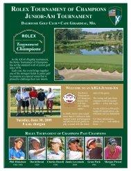 rolex tournament of champions junior-am tournament dalhousie golf ...