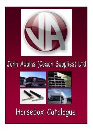 Aluminium Lipped Channels - John Adams Coach Supplies