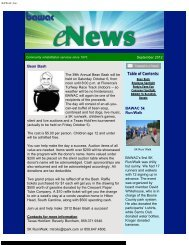 Newsletter September, 2012 - BAWAC