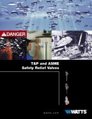 T&P and ASME Safety Relief Valves - Watts Water Technologies, Inc.