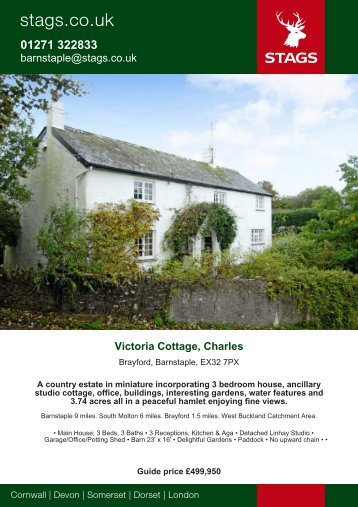 barnstaple@stags.co.uk Victoria Cottage, Charles