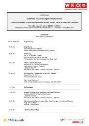 Programm 31.01.2012 (PDF) - Forum Austria Islamic Finance
