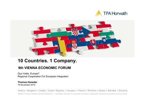 10 Countries. 1 Company. Vienna Economic Forum