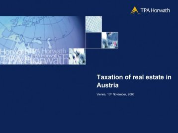 Taxation of real estate in Austria - IsIVI