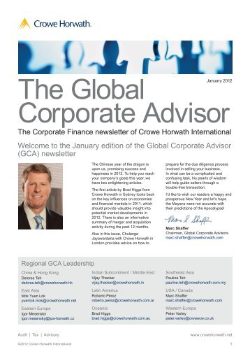 The Global Corporate Advisor - Crowe Horwath International