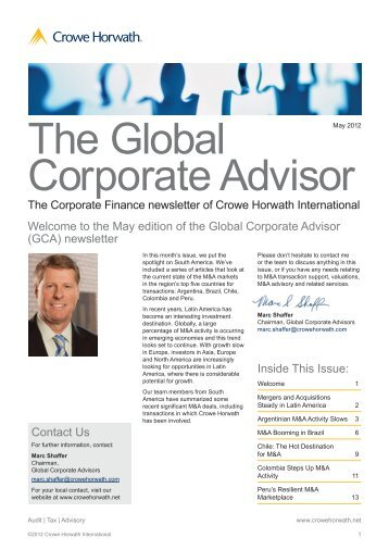 The Global Corporate Advisor - TPA Horwath
