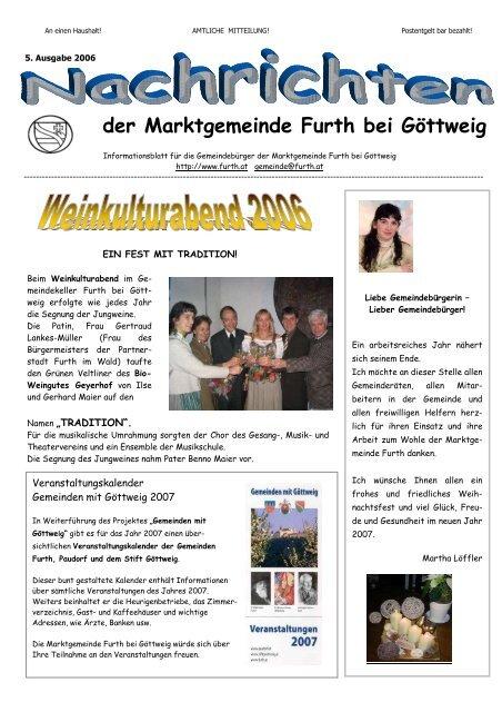 Kontakt partnervermittlung aus furth bei gttweig - Bad hofgastein