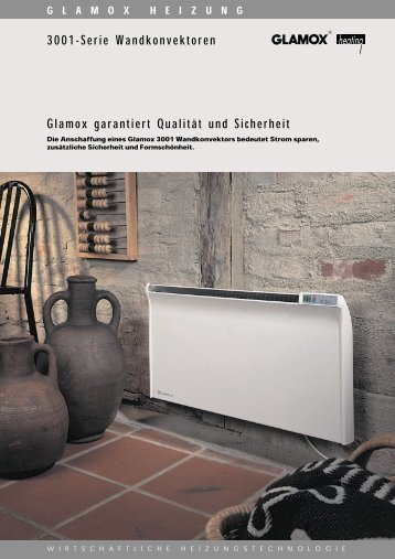 3001-Serie Wandkonvektoren Glamox garantiert ... - Sinar GmbH